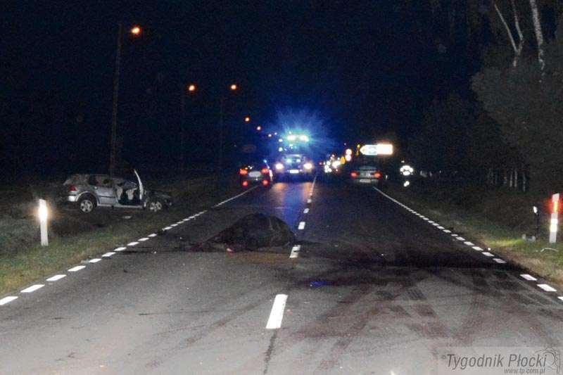 Sierpc - powiat sierpecki, Kierowca ciężko ranny - zdjęcie, fotografia