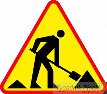 Mazowsze Płockie, pracy drogowców środę października - zdjęcie, fotografia