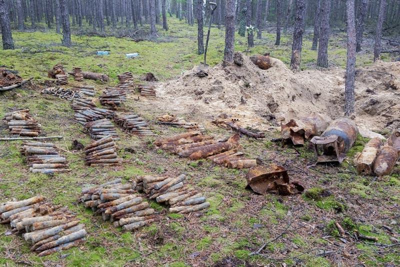 Sierpc - powiat sierpecki, Ponad tysiące niewybuchów - zdjęcie, fotografia