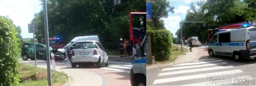 Wypadki drogowe, wypadek Korki drodze Słupna - zdjęcie, fotografia