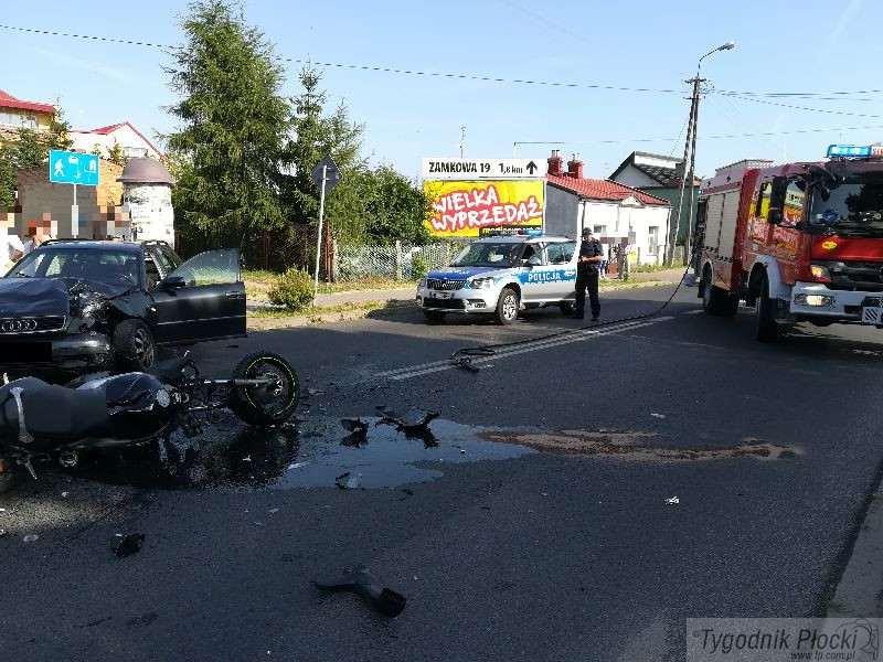 Wiadomości, Tragedia drodze żyje letni motocyklista - zdjęcie, fotografia