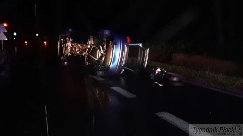 Wypadki drogowe, Niebezpieczne zdarzenie Uniejewie - zdjęcie, fotografia