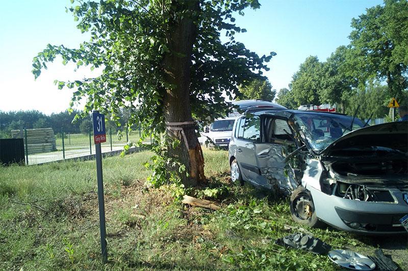 Wypadki drogowe, Kolizja Małych Górach - zdjęcie, fotografia