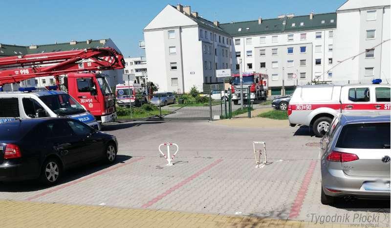 Pożary - interwencje straży  , Akcja służb ratowniczych Podolszycach - zdjęcie, fotografia