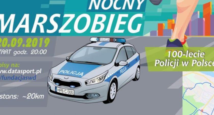 Aktualności, Nocny Marszobieg okazji lecia polskiej policji września - zdjęcie, fotografia