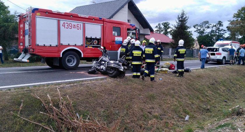 Wypadki drogowe, Pechowa motocyklowa przejażdżka - zdjęcie, fotografia