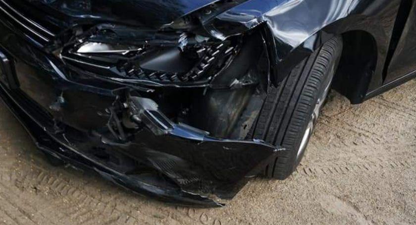 Wypadki drogowe, osoby poszkodowane wypadku Łącku - zdjęcie, fotografia