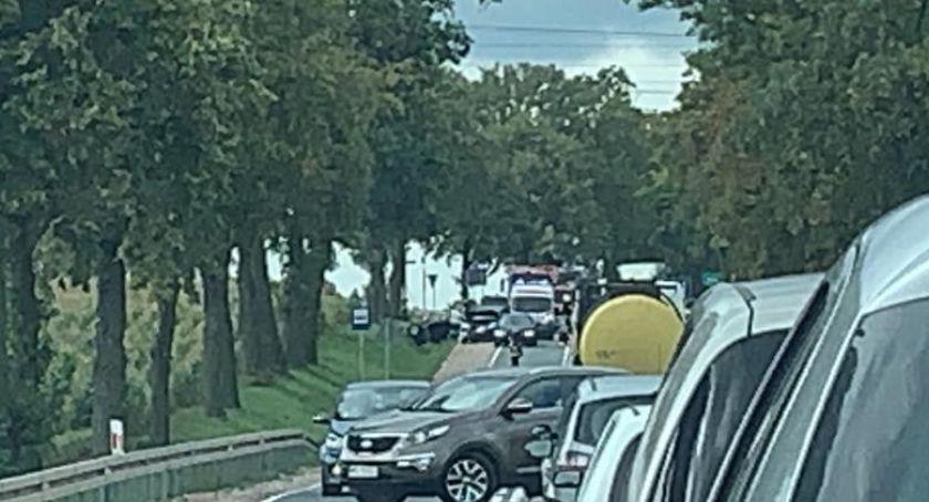 Wypadki drogowe, Wypadek skrzyżowaniu Boryszewo utrudnienia ruchu - zdjęcie, fotografia