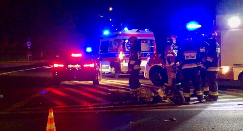 Wypadki drogowe, Wypadek Imielnicy Kolejny dziś motocyklista trafił szpitala Tworzą korki wyjeździe Płocka - zdjęcie, fotografia