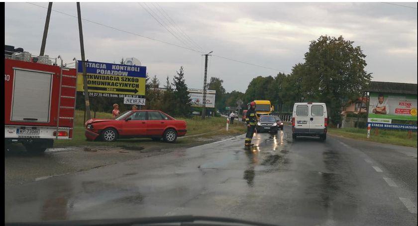 Wypadki drogowe, Wypadek Dobrzykowie Mogą utrudnienia - zdjęcie, fotografia