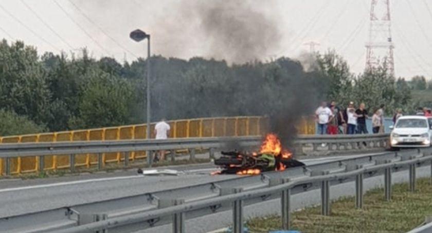 Wypadki drogowe, Motocykl palił moście Motocyklista wyparował [AKTUALIZACJA] - zdjęcie, fotografia