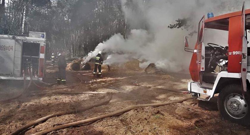 Pożary - interwencje straży  , Pożar Izabelinie Strażacy uratowali - zdjęcie, fotografia