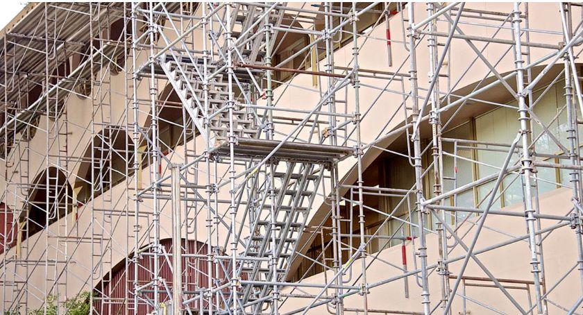 Inne, Rusztowania podstawowy sprzęt trakcie wysokościach - zdjęcie, fotografia
