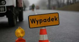 Wypadek w Goślicach - droga nieprzejezdna