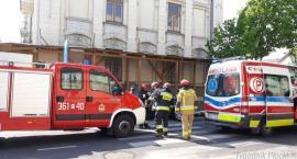 Zderzenie samochodów osobowych w centrum Płocka