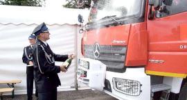 Nowy wóz strażaków z Drobina