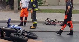 Pijany rowerzysta wpadł pod motocykl (AKTUALIZACJA)