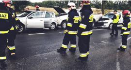 Zderzenie 3 samochodów w Srebrnej