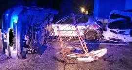 Nocny wypadek w Sikorzu