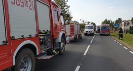 Wypadek w Bończy - droga jest zablokowana
