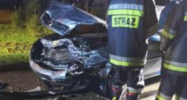 Czołówka w Blichowie. Kobieta straciła panowanie nad pojazdem