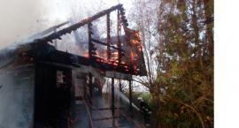 Parzeń: spłonął domek letniskowy