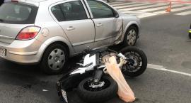 Wypadek koło dworca. Ranny motocyklista  [AKTUALIZACJA]