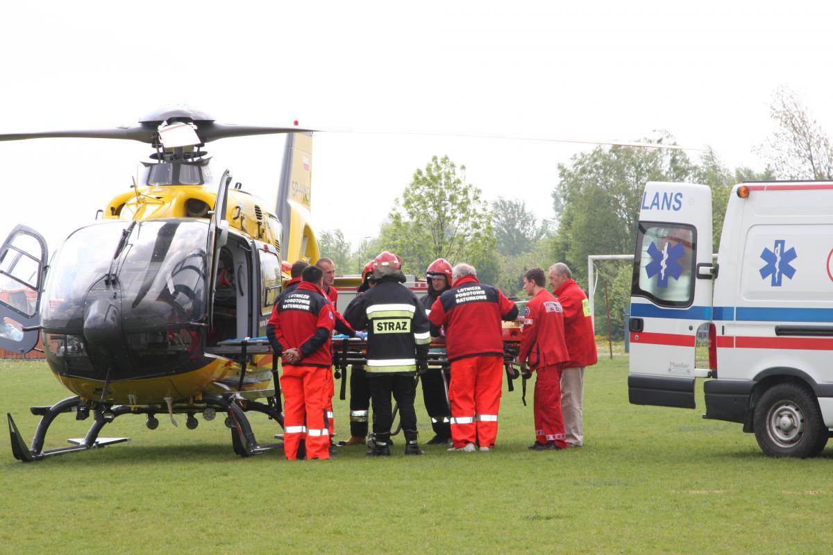 Pożary, Wypadek Szkole Orląt Mężczyzna zmarł szpitalu - zdjęcie, fotografia