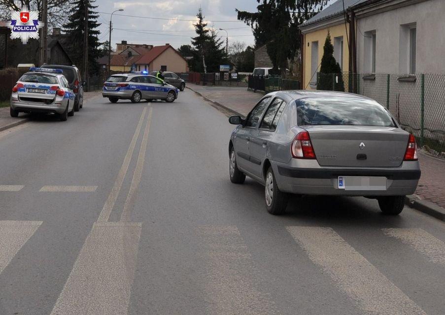 Policja, Potrącił kobietę przejściu pieszych - zdjęcie, fotografia