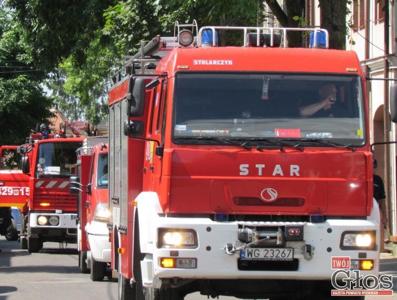 Pożary, Chciał wiedzieć długo jadą pożaru - zdjęcie, fotografia