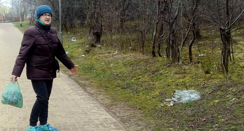 Interwencje, Łącznik Granicznej niechlubną wizytówką pijaki robią - zdjęcie, fotografia