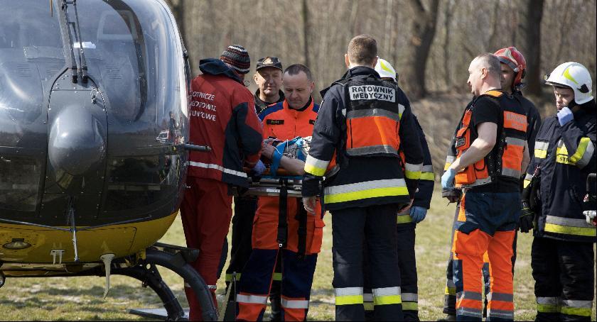 Wypadki, Białki Dolne (gmina Ułęż) Traktor przejechał mężczyźnie - zdjęcie, fotografia