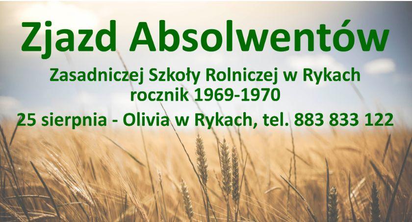 Zaproszenie, Zjazd absolwentów Szkoły Rolniczej Rykach - zdjęcie, fotografia
