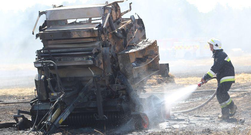 Pożary, Pożar Kłoczewie Kilka zastępów straży pożarnej płomienie [Zdjęcia] - zdjęcie, fotografia