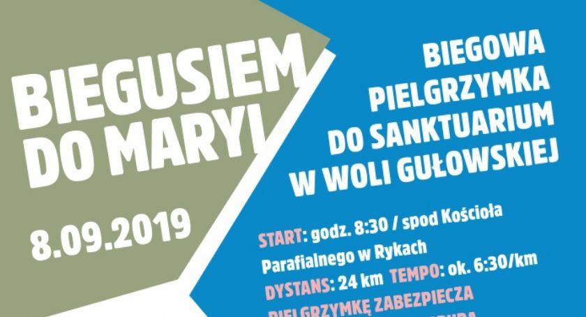 Zaproszenie, Biegusiem Maryi Rusza biegowa pielgrzymka sanktuarium Gułowskiej - zdjęcie, fotografia