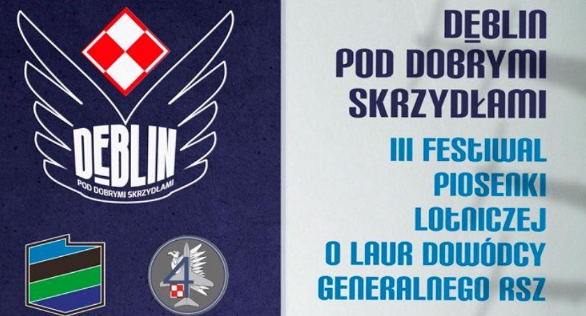 Zaproszenie, Dęblin Festiwal Piosenki Lotniczej sprawdź program imprezy - zdjęcie, fotografia