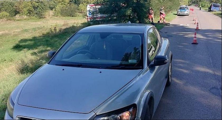 Wypadki, Dęblin Wypadek udziałem rowerzysty - zdjęcie, fotografia