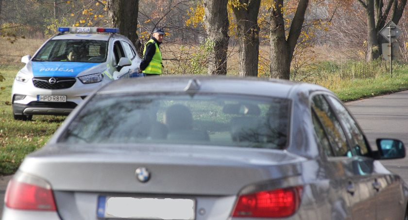 Policja, Akcja Znicz Rykach kolizji pijanych kierowców - zdjęcie, fotografia