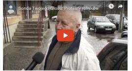 Sonda TV: Protesty rolników
