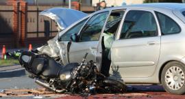 Dęblin. Motocyklista ranny w wypadku nie żyje