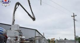 Mężczyzna porażony prądem na budowie