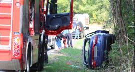 Kolejny wypadek w Nowym Zadybiu. Auto dachowało