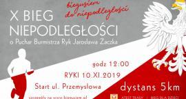 X Bieg Niepodległości o Puchar Burmistrza Ryk Jarosława Żaczka