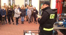 Strażacy pojechali do szkoły w Leopoldowie