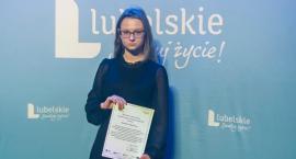 Weronika Dąbrowska wśród najlepszych uczniów województwa lubelskiego