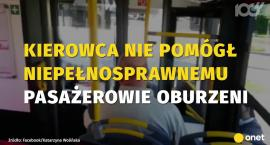 Skandaliczna sytuacja w autobusie. Kierowca nie chciał pomóc niepełnosprawnemu