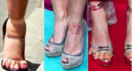 Czy gwiazdy mają ładne stopy? Chodzenie na wysokich obcasach nie wszystkim służy...