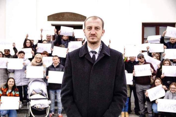 Wybory , Łukasz Chrostowski został Burmistrzem Przasnysza turze - zdjęcie, fotografia