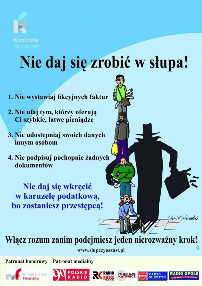 Informacje US ZUS PUP, Kampania zrobić słupa - zdjęcie, fotografia