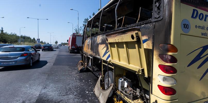 Pożary - Straż , Pożar autobusu miejscowości Romany Sebory - zdjęcie, fotografia